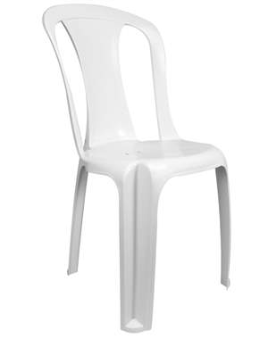 Cadeira De Plástico Tipo Bistrô Modelo Ametista